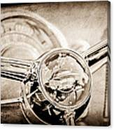 1950 Oldsmobile Rocket 88 Steering Wheel Emblem Canvas Print