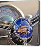 1950 Oldsmobile Rocket 88 Steering Wheel Canvas Print