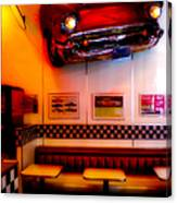 1950s American Diner - Featured In Vehicle Enthusiasts Canvas Print