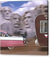 1950s Family Vacation Panoramic Canvas Print