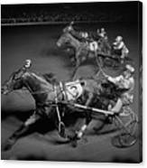 1950s Side View Of 3 Runners Canvas Print