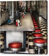1950's - The Ice Cream Parlor  Canvas Print