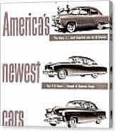 1951 - Kaiser Frazer Manhattan Automobile Advertisement - Color Canvas Print