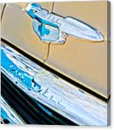 1951 Chevrolet Style Deluxe Grille Emblem Canvas Print