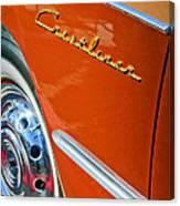 1951 Ford Crestliner Emblem - Wheel Canvas Print