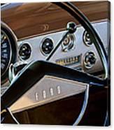 1951 Ford Crestliner Steering Wheel Canvas Print