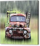 1951 Ford Truck - Found On Road Dead Canvas Print