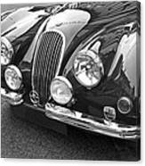 1951 Jaguar Xk120 In Black And White Canvas Print