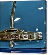 1952 Chevrolet Pickup Hood Canvas Print