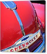 1952 Chevrolet Suburban Hood Ornament Canvas Print