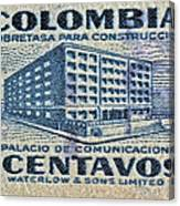 1952 Columbian Stamp Canvas Print