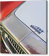 1952 Cunningham C-3 Vignale Cabriolet Grille - Hood Emblem Canvas Print
