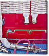1952 L Model Mack Pumper Fire Truck Hoses Canvas Print