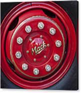 1952 L Model Mack Pumper Fire Truck Wheel Canvas Print