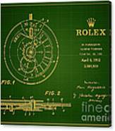 1952 Rolex Calendar Timepiece 1 Canvas Print