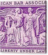 1953 American Bar Association Postage Stamp Canvas Print