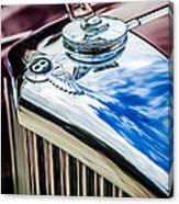 1953 Bentley R-type Hood Ornament - Emblem -0790c Canvas Print