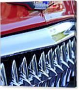 1953 Chevrolet Grille Emblem Canvas Print