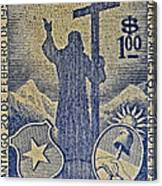 1953 Chile Stamp Canvas Print