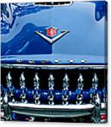1953 Desoto Firedome Convertible Grille Emblem Canvas Print