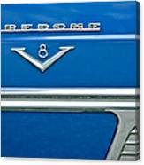 1953 Desoto Firedome Convertible Side Emblem Canvas Print