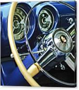 1953 Desoto Firedome Convertible Steering Wheel Emblem Canvas Print
