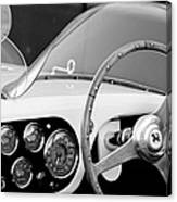 1953 Ferrari 340 Mm Lemans Spyder Steering Wheel Emblem Canvas Print