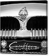 1953 Packard Caribbean Grille Emblem -1217bw Canvas Print