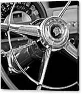 1953 Pontiac Steering Wheel 2 Canvas Print