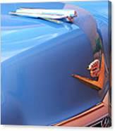 1954 Cadillac Coupe Deville Wheel Emblem - Hood Ornament Canvas Print
