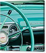 1954 Chevrolet Belair Steering Wheel 3 Canvas Print