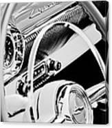 1954 Chevrolet Belair Steering Wheel Emblem -1535bw Canvas Print