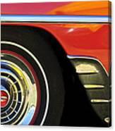1954 Chevrolet Convertible Wheel Canvas Print