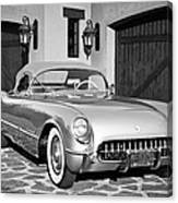 1954 Chevrolet Corvette -183bw Canvas Print
