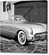 1954 Chevrolet Corvette -203bw Canvas Print