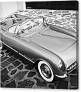 1954 Chevrolet Corvette -270bw Canvas Print