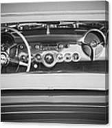 1954 Chevrolet Corvette Steering Wheel -139bw Canvas Print