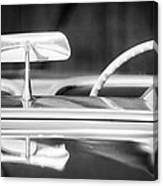 1954 Chevrolet Corvette Steering Wheel -311bw Canvas Print