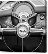 1954 Chevrolet Corvette Steering Wheel -382bw Canvas Print