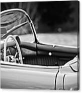 1954 Chevrolet Corvette Steering Wheel -407bw Canvas Print