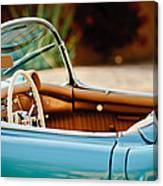 1954 Chevrolet Corvette Steering Wheel -407c Canvas Print