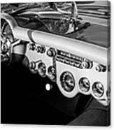 1954 Chevrolet Corvette Steering Wheel -502bw Canvas Print