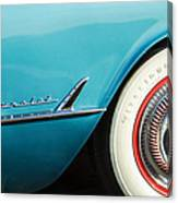 1954 Chevrolet Corvette Wheel Emblem -282c Canvas Print
