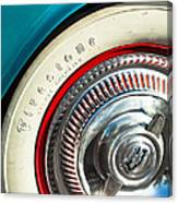 1954 Chevrolet Corvette Wheel Emblem -290c Canvas Print