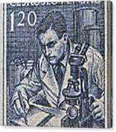 1954 Czechoslovakian Scientist Stamp Canvas Print