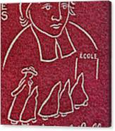 1954 De La Salle Monaco Stamp Canvas Print