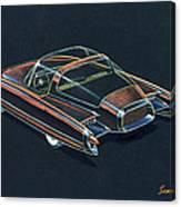 1954  Ford Cougar Experimental Car Concept Design Concept Sketch Canvas Print