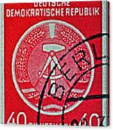 1954 German Democratic Republic Stamp - Berlin Cancelled Canvas Print