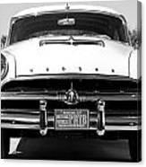 1954 Hudson Hornet In Black Canvas Print