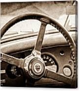 1954 Jaguar Xk120 Roadster Steering Wheel Emblem Canvas Print